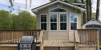 Direct Lakefront 2 Bedroom Cottage Asking $124,900 Lot Centre #C20  |  2019 Site Fees $2,905