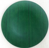 green wood grain charger