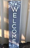 "gray and white ""welcome"" sign"