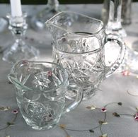 glass sugar and creamer set