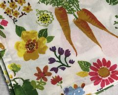 floral and veggie print cloth napkin