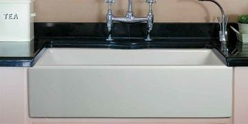 "33"" Flat Front White Italian Fireclay Signle Bowl SInk"