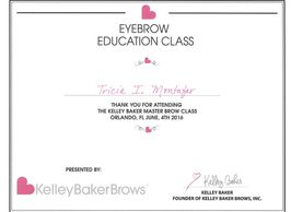 Eye Brow Certification