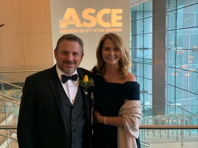 Bryan and his wife, Julie, at the ASCE OPAL Awards in Arlington, VA.