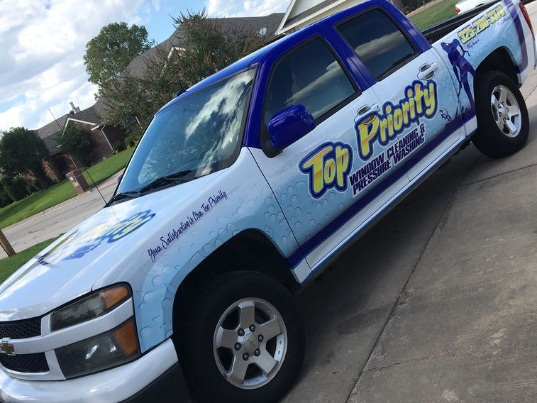Top Priority window cleaning and pressure washing