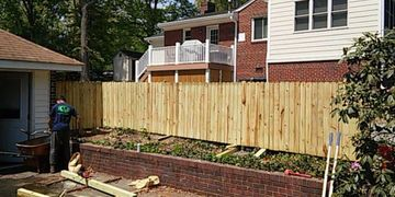 installation of wood privacy fence