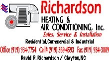 Richardson's Heating and Air Conditioning Inc.