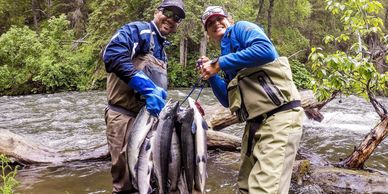 Anglers flock to the area for the first run of sockeye salmon that spawn in the Russian River.