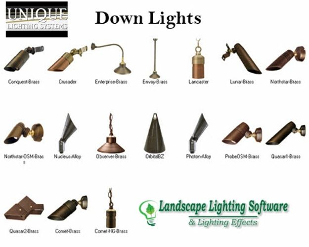 Unique lighting systems landscape lighting software unique lighting down lights are included in landscape lighting software aloadofball Image collections