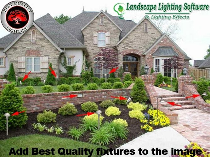 Best quality lighting landscape lighting software landscape landscape lighting software shows best quality lighitng fixtures as if they were installed aloadofball Choice Image