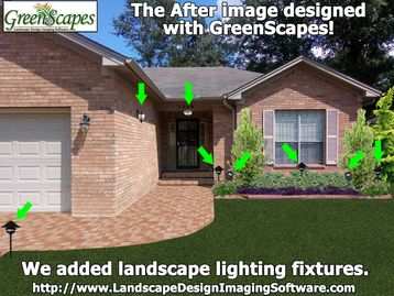 GreenScapes allows you to add plants and outdoor lighting fixtures.