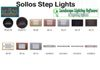 Sollos Step Light fixtures featured in Landscape Lighting Software.