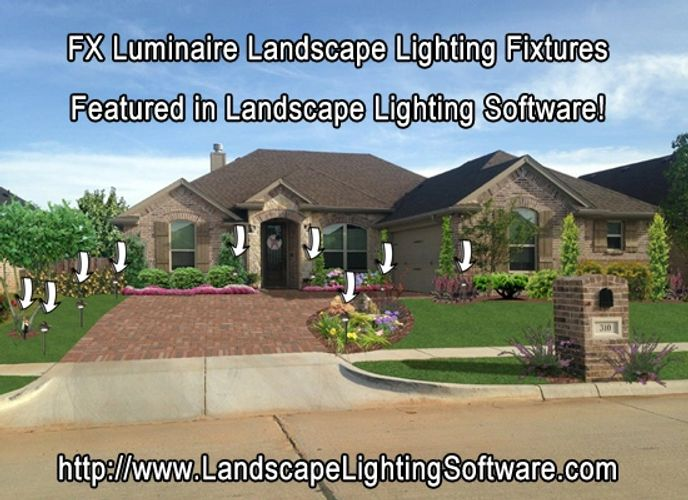 Fx luminaire landscape lighting software fx luminaire uses landscape lighting software to effectively show the client where the fixtures will be aloadofball Choice Image