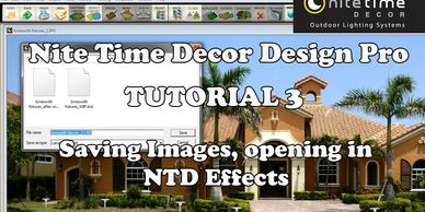 "Nite Time Decor ""Design Pro"" Tutorial 3 saving images and opening the effects program."