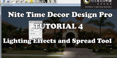 "Nite Time Decor ""Design Pro"" Lighting Effects and Spread tool."