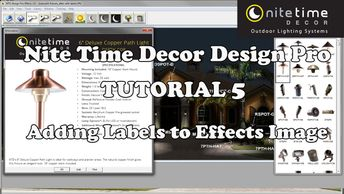 Nite Time Decor Design Pro has the ability to add labels to the fixture.