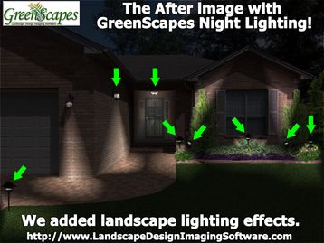 Show lighting effects with GreenScapes.