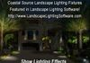 Coastal Source photo realistic image created in Landscape Lighting Software