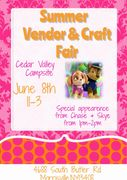 Vendor and Craft fair 11am-3pm   *** Special Guest 1pm-2pm***