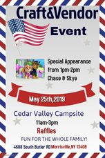 Craft & Vendor Event 11am-3pm         Special Guest Chase & Skye             from Paw Patrol