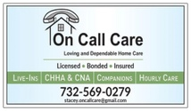 ON CALL CARE Stacey.OnCallCare@gmail.com (732) 569-0279 /506-3900