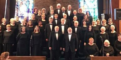 Motor City Chorale performing in conjunction with Warren Concert Band in the 2019 Winter Season.