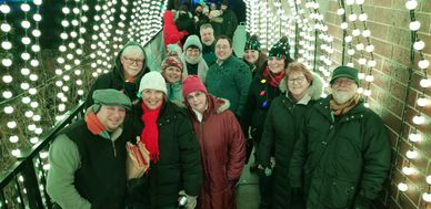 Motor City Chorale, Tunnel of Lights,Detroit Zoo, Caroling for Wild Lights, Christmas