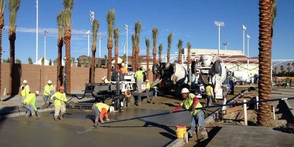 pour in place, driveway, concrete, concrete finishing, concrete floating, Indian wells,