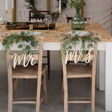 Green Wedding table, Foliage