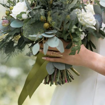 White and Green foliage bouquet