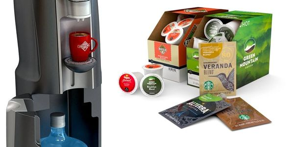 aquacafe all-in-one beverage system, complete office coffee delivery service service,