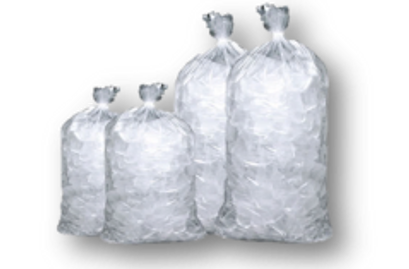 cubed or block bagged ice