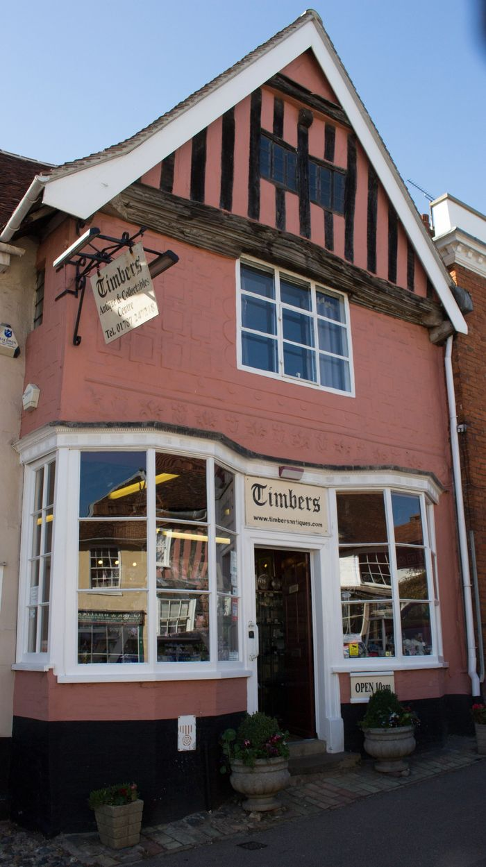 Timbers Antiques and Collectables Centre is situated in the centre of Lavenham.