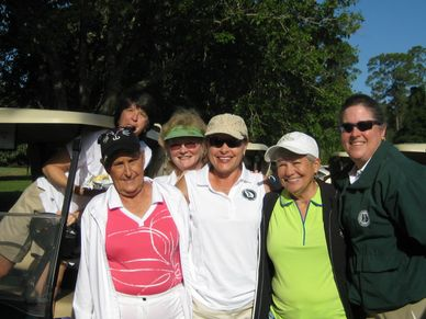 Friends and Competitors play at Jekyll Island in the GWGA Annual Four Ball Tournament!