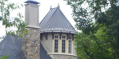 Copper Turret roof with a nice patina