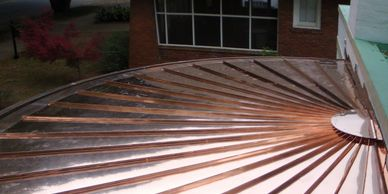 We fabricate and install radius copper roofs in Georgia