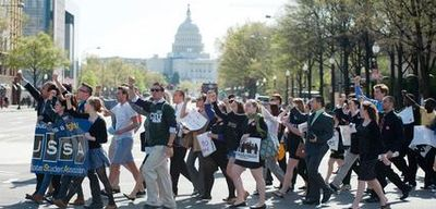 United States Studend Association march on Washington, D.C.