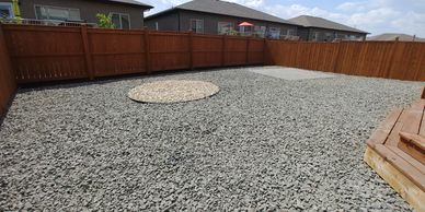 Landscaping in Winnipeg with granite rock, lake stone, river rock, limestone and mulch.