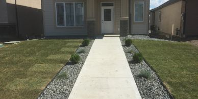 Winnipeg landscaping company. New build homes we use skid steer, mini track loader, shovels.