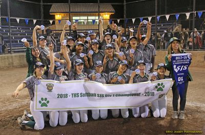 Tracy High Softball 2018 CIF-SJS Division I  Section Champions