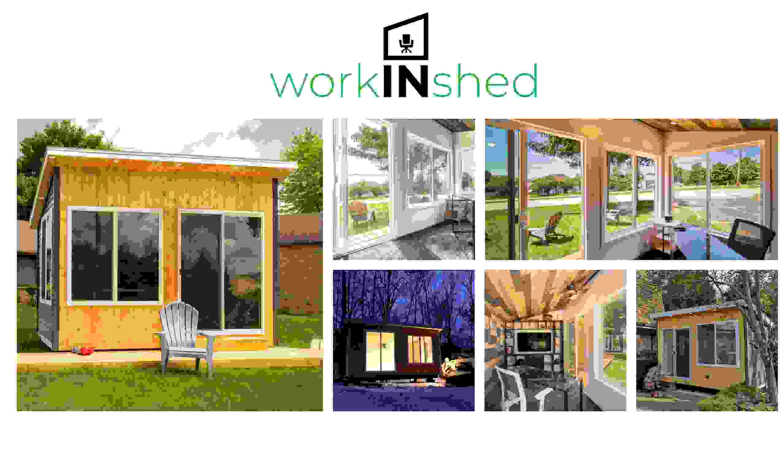 Sheds for working from home, from your backyard.