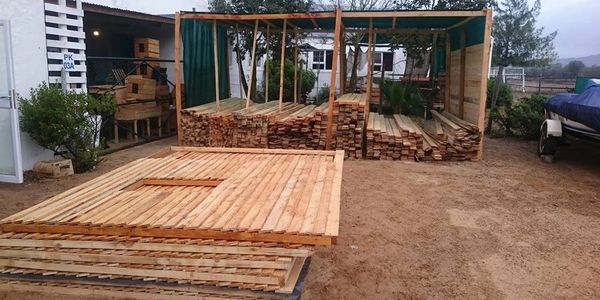 Wendy house Timber yard Wood Planks