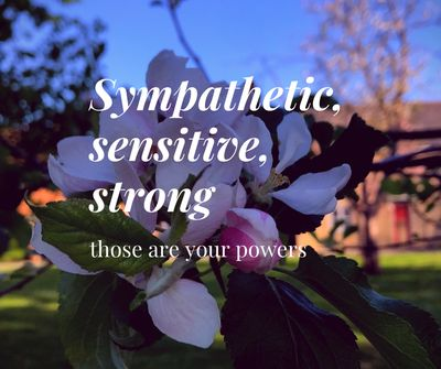 High sensitivity, sympathy and strength as personal power
