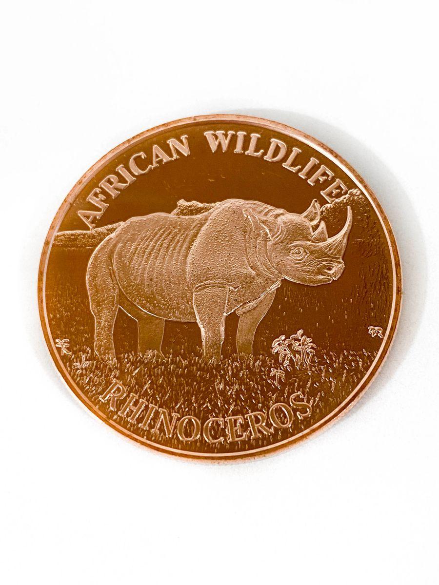 1 oz Copper Round Rhino