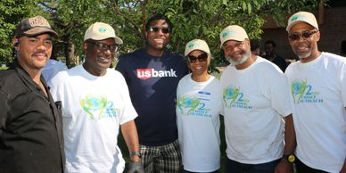 2nd Chance Outreach Board members standing together in white t-shirts