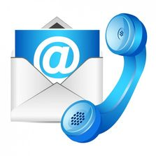 Email and telephone icons.