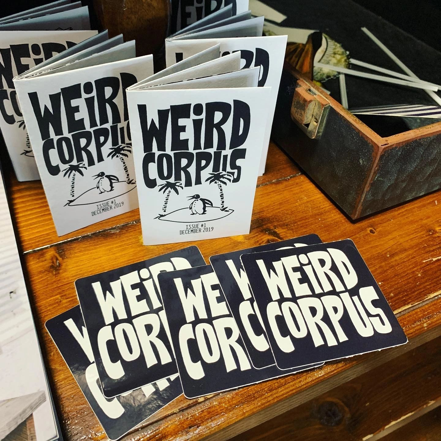 Weird Corpus Local art zine micro zine artist underground small business magazine indie microzine