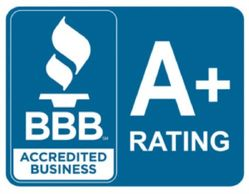 Accredited Business with the BBB - Better Business Bureau - A+ Rating