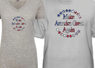 Make America Great Again Ash Junior V-Neck and Ash Male Tees