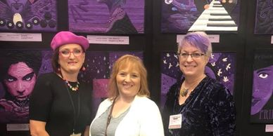 Prince Challenge Quilt Exhibit for Cherrywood Fabrics. Laurie Ceesay Landree and Karla Overland